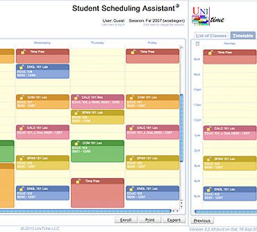 Unitime Scheduling